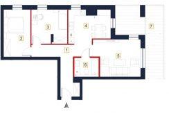 mieszkania na sprzedaż rzeszów - rzut mieszkania 1