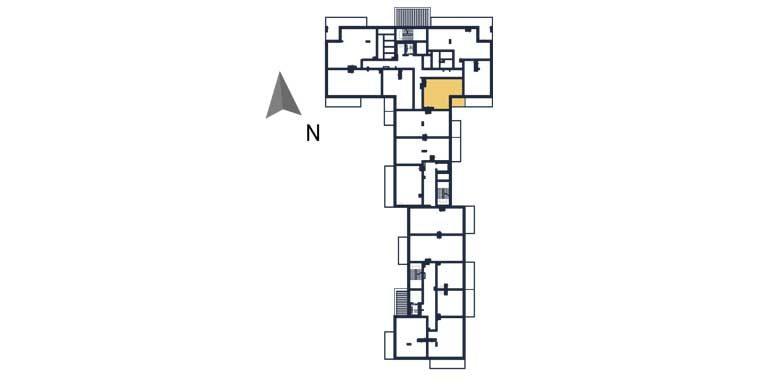 nowe mieszkania rzeszów - rzut kondygnacji z zaznaczonym mieszkaniem a10