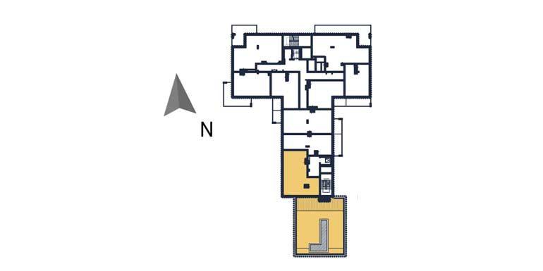 sprzedaż mieszkań rzeszów - rzut kondygnacji z zaznaczonym mieszkaniem  a100