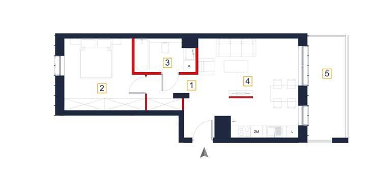 sprzedaż mieszkań rzeszów - rzut mieszkania  a101