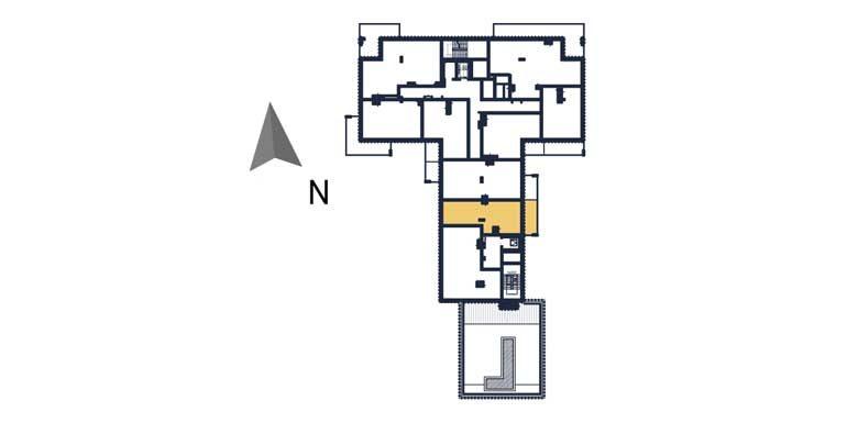 sprzedaż mieszkań rzeszów - rzut kondygnacji z zaznaczonym mieszkaniem  a101