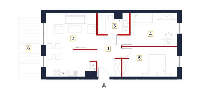 mieszkania na sprzedaż rzeszów - rzut mieszkania a102
