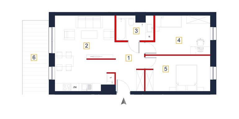 Mieszkanie – 3 pokoje – taras – 66,24 m<sup>2</sup> – Rzeszów