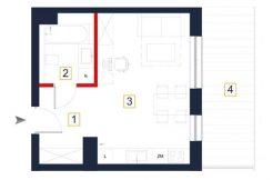mieszkania na sprzedaż rzeszów - rzut mieszkania a103