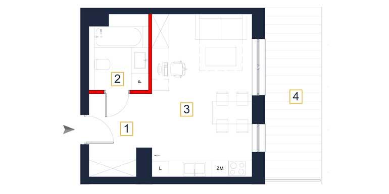 Mieszkanie – 1 pokój – taras – 31,94 m<sup>2</sup> – Rzeszów