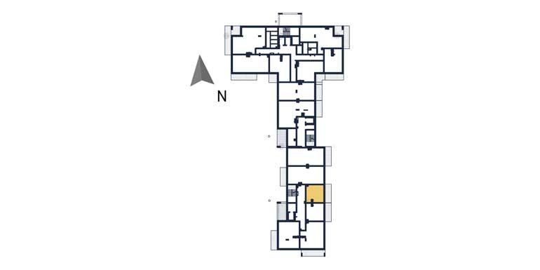 mieszkania na sprzedaż rzeszów - rzut kondygnacji z zaznaczonym mieszkaniem a103