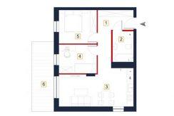 nowe mieszkania rzeszów - rzut mieszkania a106