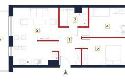 nowe mieszkania rzeszów - rzut mieszkania a107