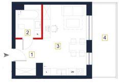 nowe mieszkania rzeszów - rzut mieszkania a108