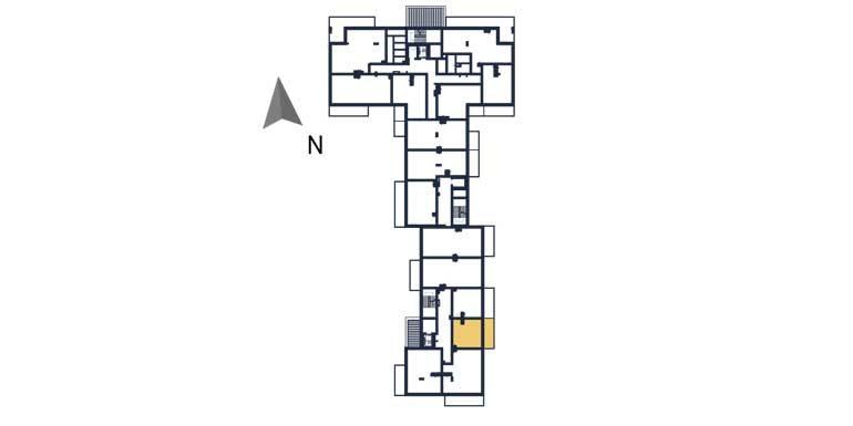 nowe mieszkania rzeszów - rzut kondygnacji z zaznaczonym mieszkaniem a109