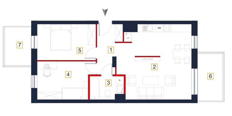 Mieszkanie – 3 pokoje – balkon – 65,93 m<sup>2</sup> – Rzeszów