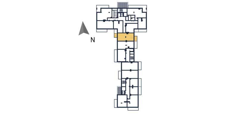 nowe mieszkania rzeszów - rzut kondygnacji z zaznaczonym mieszkaniem a11