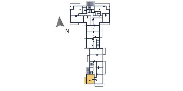 deweloperskie mieszkania rzeszów - rzut kondygnacji z zaznaczonym mieszkaniem a111