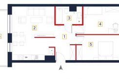 deweloperskie mieszkania rzeszów - rzut mieszkania a112