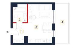deweloperskie mieszkania rzeszów - rzut mieszkania a113