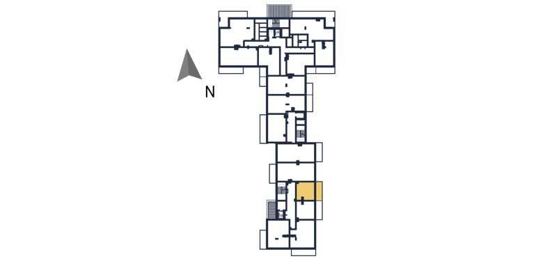 deweloperskie mieszkania rzeszów - rzut kondygnacji z zaznaczonym mieszkaniem  a113