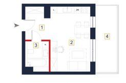 deweloperskie mieszkania rzeszów - rzut mieszkania a114