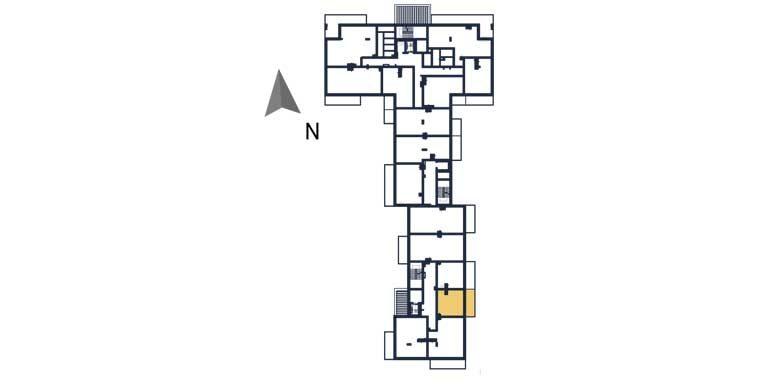 deweloperskie mieszkania rzeszów - rzut kondygnacji z zaznaczonym mieszkaniem  a114