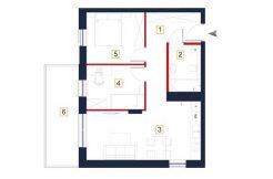 deweloperskie mieszkania rzeszów - rzut mieszkania a116