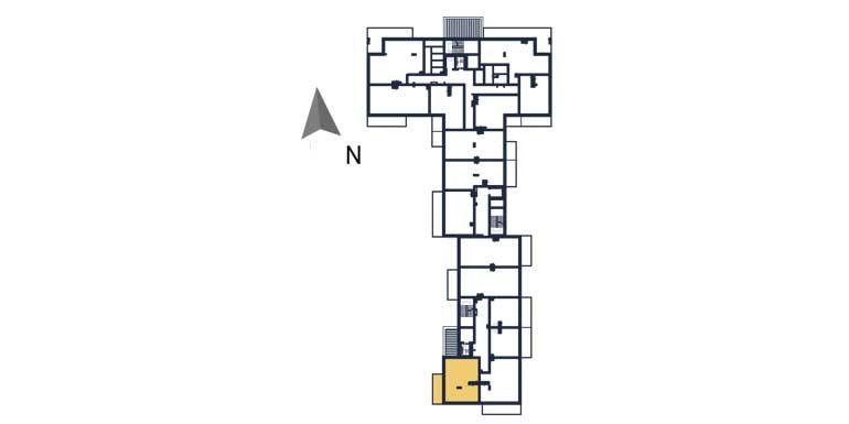 deweloperskie mieszkania rzeszów - rzut kondygnacji z zaznaczonym mieszkaniem  a116