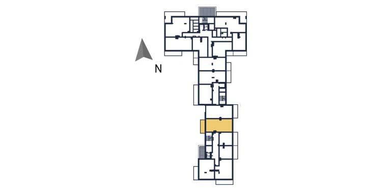 sprzedaż mieszkań rzeszów - rzut kondygnacji z zaznaczonym mieszkaniem  a117