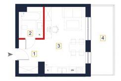 sprzedaż mieszkań rzeszów - rzut mieszkania a118