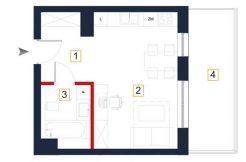 sprzedaż mieszkań rzeszów - rzut mieszkania a119