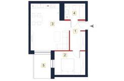 nowe mieszkania rzeszów - rzut mieszkania a12
