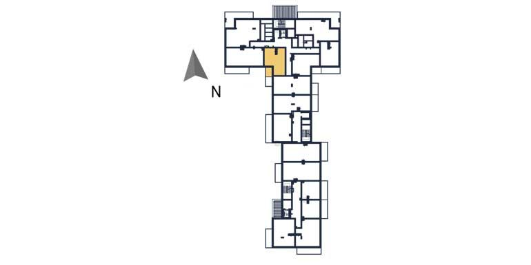 nowe mieszkania rzeszów - rzut kondygnacji z zaznaczonym mieszkaniem a12