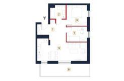 sprzedaż mieszkań rzeszów - rzut mieszkania a120