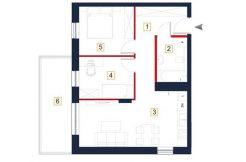 sprzedaż mieszkań rzeszów - rzut mieszkania a121