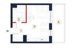 sprzedaż mieszkań rzeszów - rzut mieszkania a123