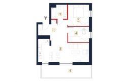 sprzedaż mieszkań rzeszów - rzut mieszkania a125