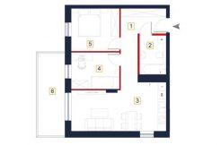 sprzedaż mieszkań rzeszów - rzut mieszkania a126