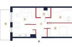 sprzedaż mieszkań rzeszów - rzut mieszkania a127