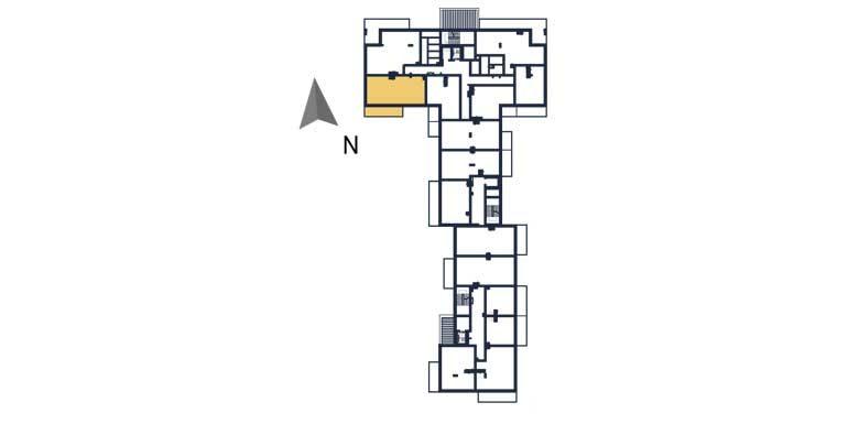 nowe mieszkania rzeszów - rzut kondygnacji z zaznaczonym mieszkaniem a13