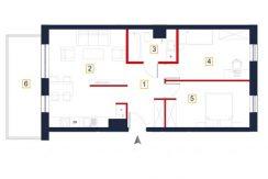 sprzedaż mieszkań rzeszów - rzut mieszkania a132