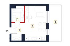 sprzedaż mieszkań rzeszów - rzut mieszkania a133