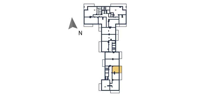 sprzedaż mieszkań rzeszów - rzut kondygnacji z zaznaczonym mieszkaniem  a133
