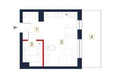 sprzedaż mieszkań rzeszów - rzut mieszkania a134