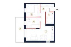 sprzedaż mieszkań rzeszów - rzut mieszkania a136