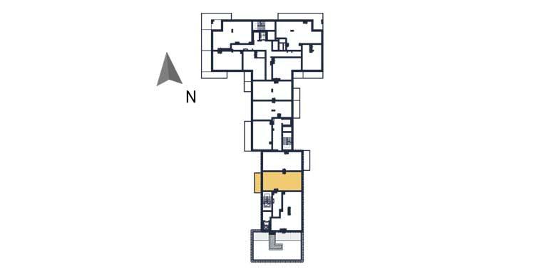 sprzedaż mieszkań rzeszów - rzut kondygnacji z zaznaczonym mieszkaniem  a137