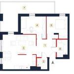 nowe mieszkania rzeszów - rzut mieszkania a14