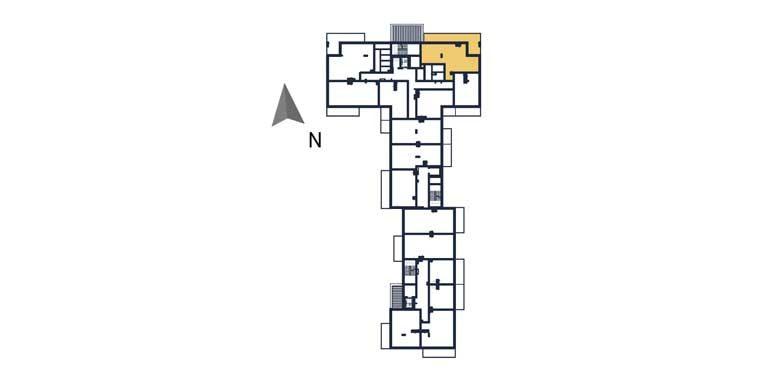 deweloperskie mieszkania rzeszów - rzut kondygnacji z zaznaczonym mieszkaniem a15