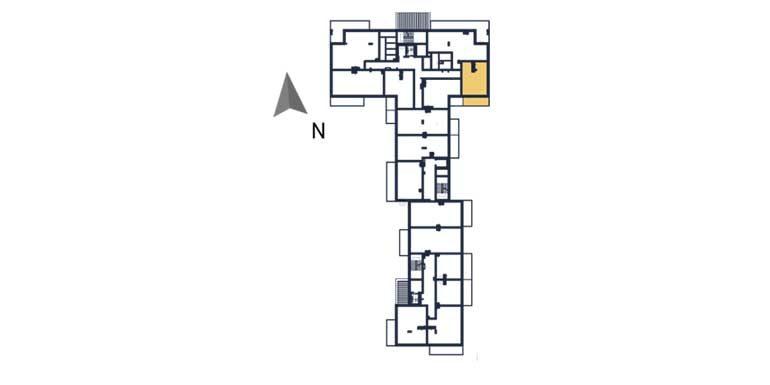 deweloperskie mieszkania rzeszów - rzut kondygnacji z zaznaczonym mieszkaniem a16