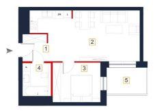 deweloperskie mieszkania rzeszów - rzut mieszkania a17