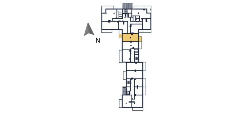 deweloperskie mieszkania rzeszów - rzut kondygnacji z zaznaczonym mieszkaniem a18