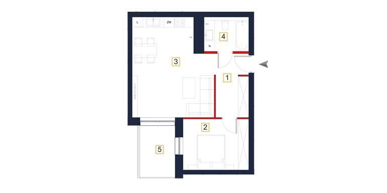 deweloperskie mieszkania rzeszów - rzut mieszkania a19