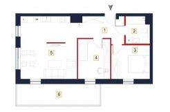 deweloperskie mieszkania rzeszów - rzut mieszkania a20