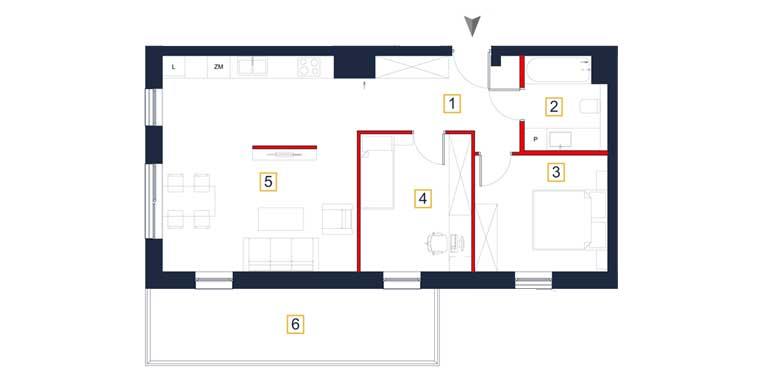 Mieszkanie &#8211; 3 pokoje &#8211; balkon &#8211; 66,72 m<sup>2</sup> &#8211; Rzeszów